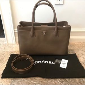 Chanel gray tote 100% authentic